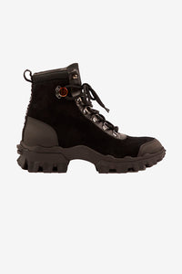 Chunky black boots with Moncler logo and rubber sole