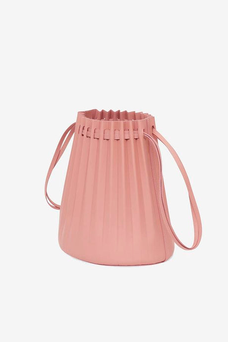 Pleated Bucket Bag in Blush