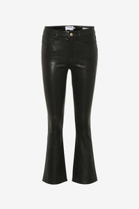 Soft leather trousers with a five pocket design