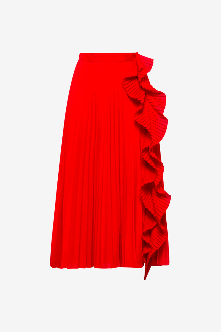 Pleated Skirt Rosso
