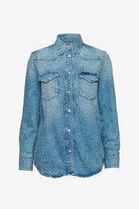 Western inspired denim shirt with front pockets