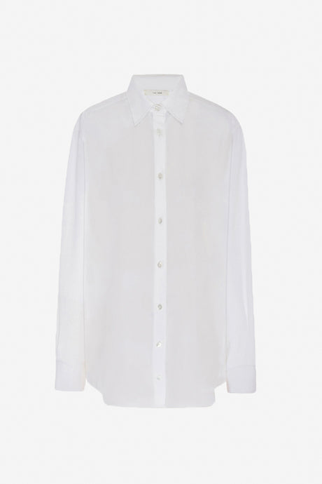 White classic Pia Cotton Shirt with long sleeve