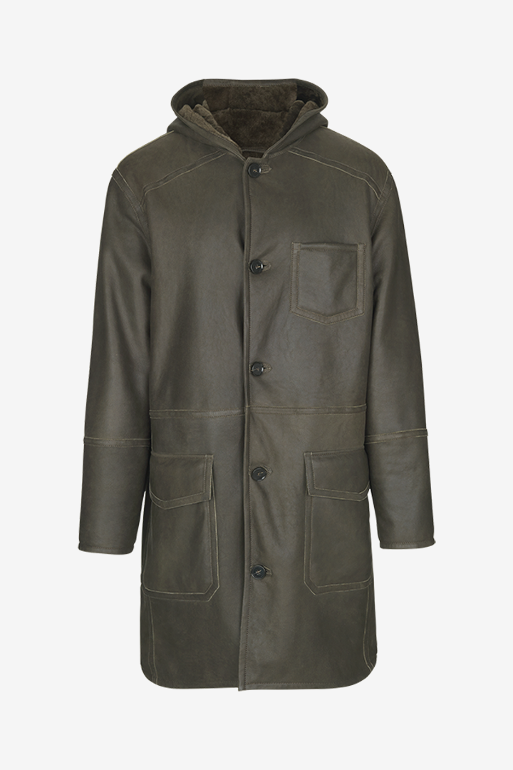 Birger Christensen Mens Emmet Reversible Shearling Coat