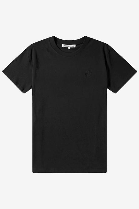 Classic black t-shirt with a small MCQ logo