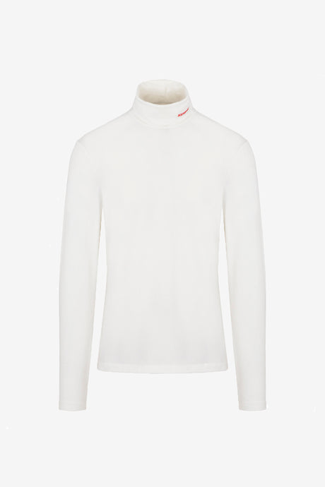 MWTD19 Jersey Turtleneck in white with long sleeves