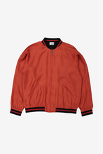 Red Armor Silk Bomber Jacket