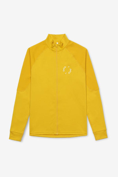Yellow Tech jacket with slim fit and stretchy material