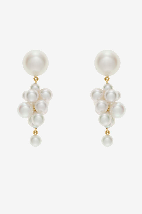 Botticelli white pearl errings with gold details