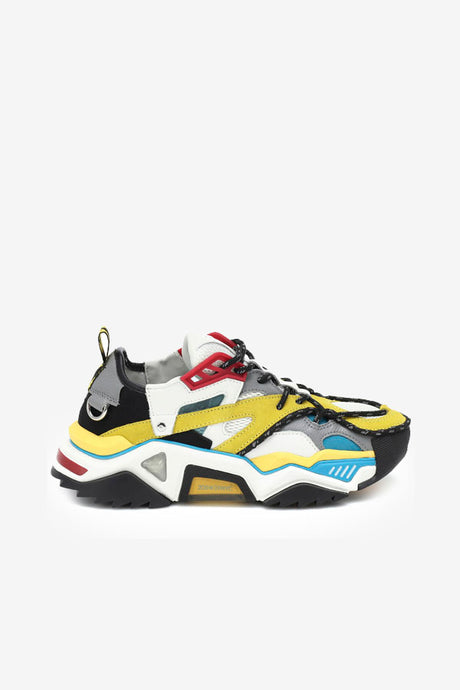 Sneakers red blue yellow chunky