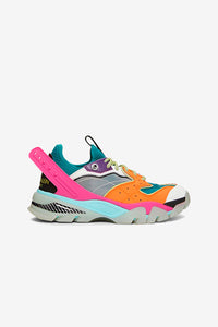 Calvin Klein 205 W39 NY Carla logo-print leather, rubber, 10 mesh and neoprene sneakers
