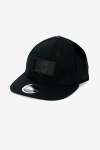 Black cap with patch logo of the canadian flag in black.