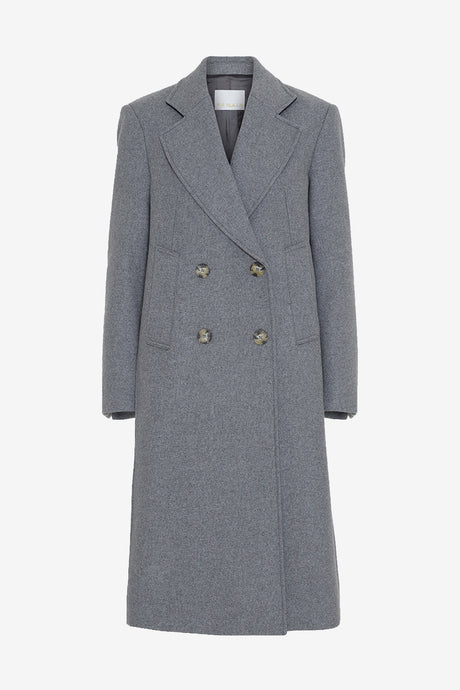 Heavy wool coat with wide collar