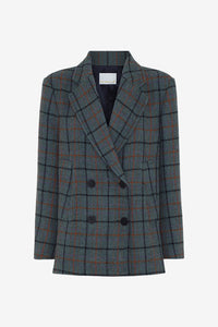 Boxy fitted check jacket in a heavy wool