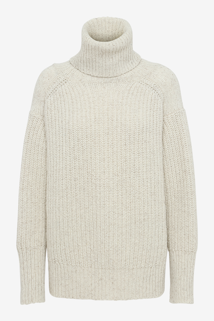 Diana Knit with turtleneck in White from REMAIN Birger Christensen