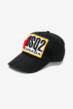 Patch logo Baseball Cap - Black with DSQ2 multi colored patch.