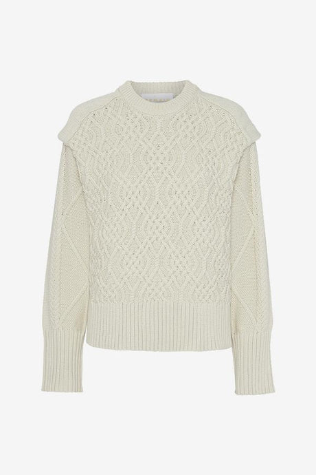 Off white cable knit with dropped shoulders