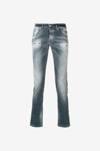 Stonewashed grey jeans pants men mens dundop