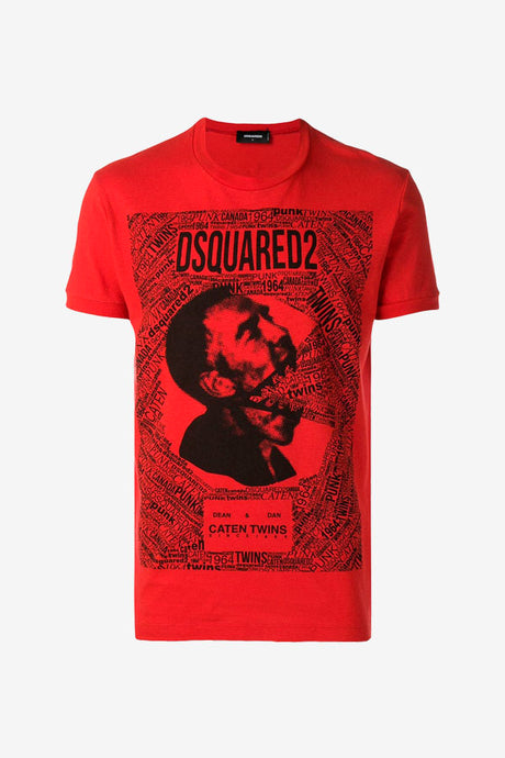 Red caten twins t-shirt from dsquared2