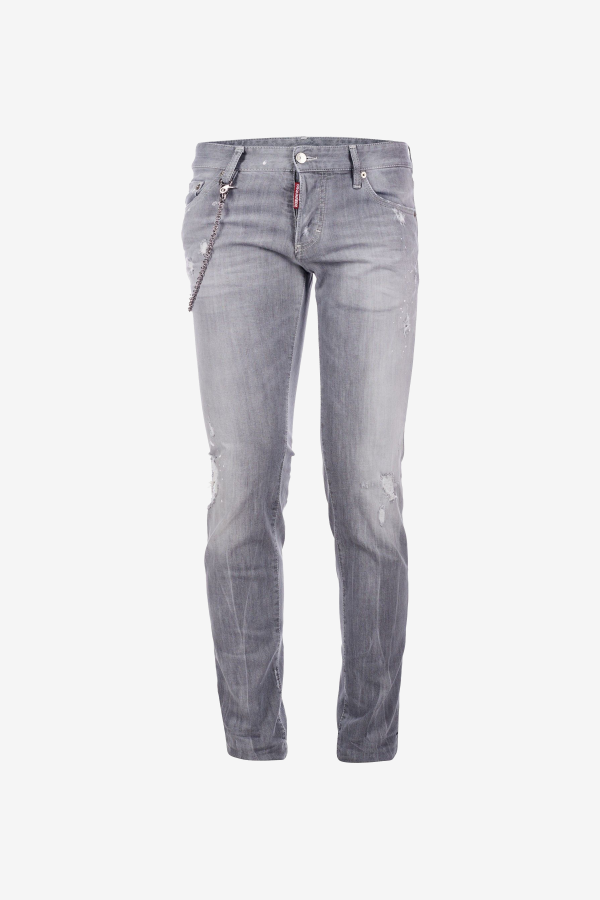 Grey Broken Slim Jeans