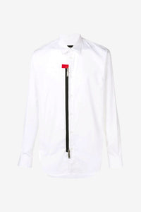 White zip shirt from Dsquared2