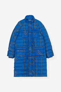 fox worth puffer jacket Ganni blue