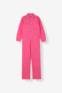 Ganni Denim Jumsuit Pink