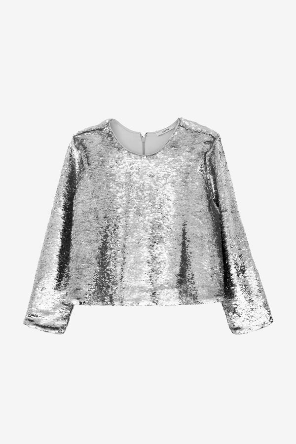 ganni sequins top sonora