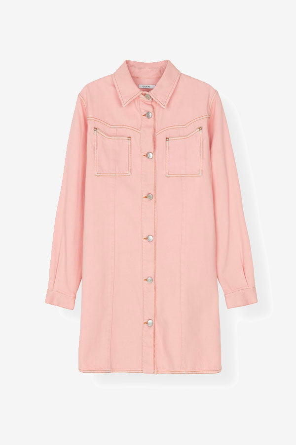 Kress Pink Soft Denim Dress