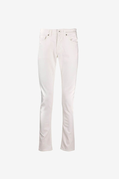 five pocket pants in white cotton in skinny fit.