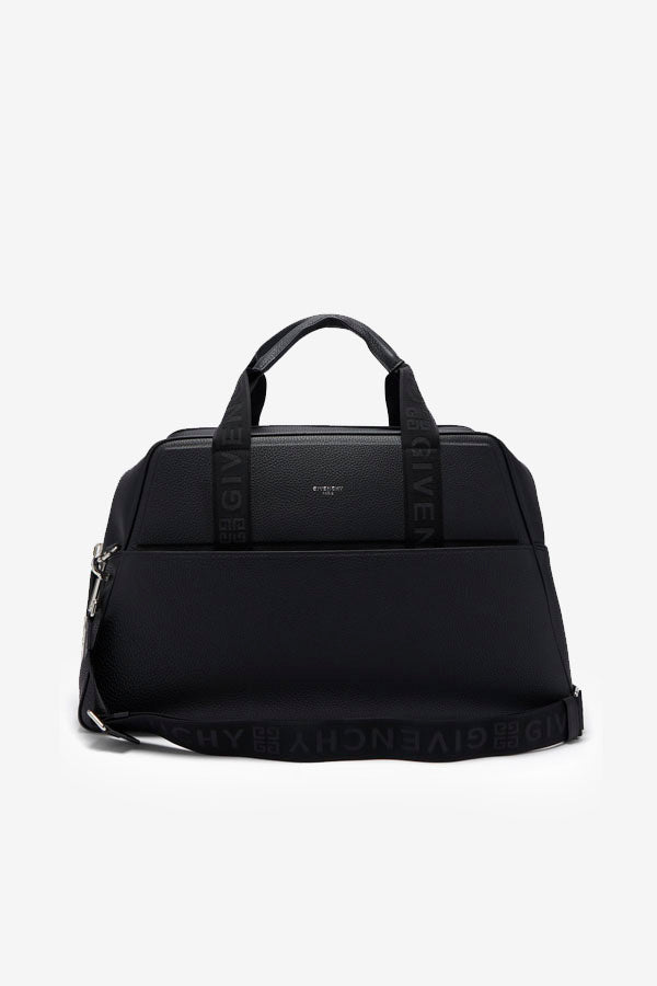 Weekend Duffle Bag In Grained Leather