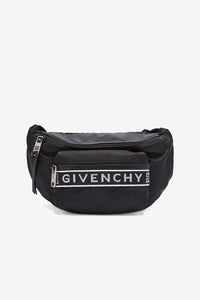 Givenchy Black Nylon Logo Bumbag