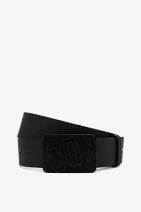 Black Belt With Velvet Buckle