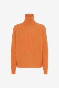 Roll neck sweater with raglan sleeves