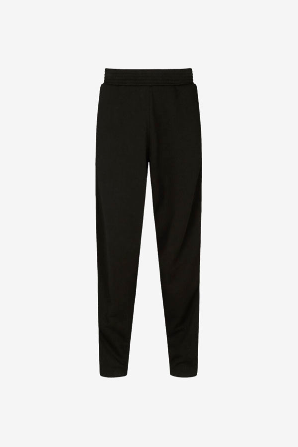 Slim sweatpants in black, with a elastic waist and ankle cuff. Along side seam is a Givenchy logo band in black and white.