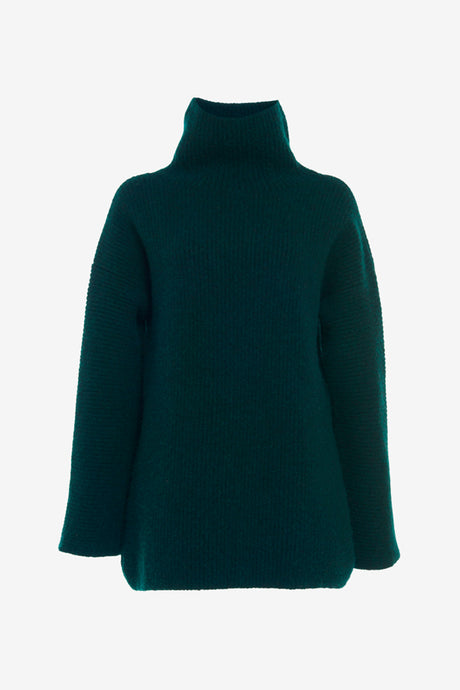 Oversized sweater with a high turtleneck