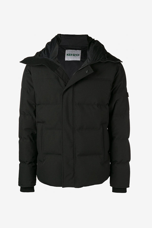 Kenzo Short Quilted Down Jacket Black