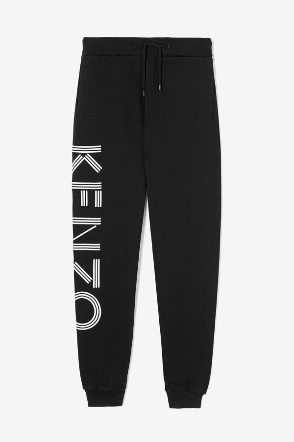 Kenzo Sweatpants in black with leg side print