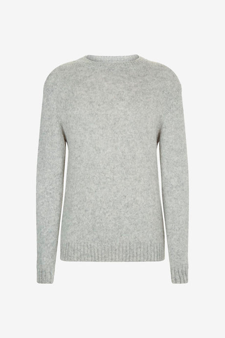 Alpaca blend sweater in light grey