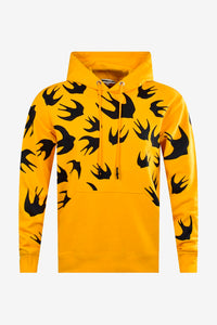 Yellow mens hoodie McQ by ALEXANDER MCQUEEN