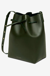 mansur Gabriel bucket bag green