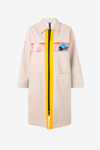 Miu Miu Beige Cat Trench Coat