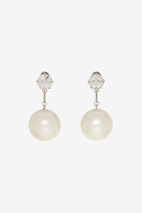 Miu Miu Silver pearl earrings