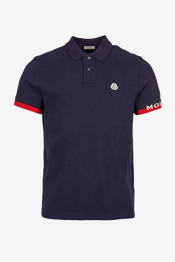 Moncler Navy Polo Shirt