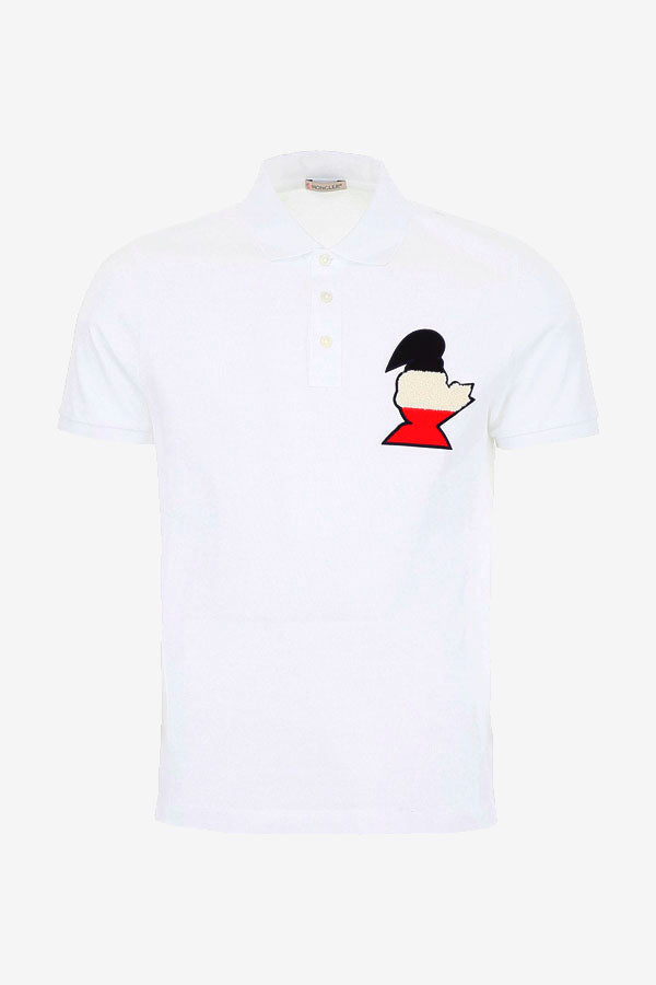 White Men's polo Monduck Moncler