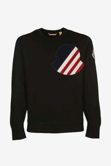 Sweatshirt Moncler Black Logo 1952 Men's