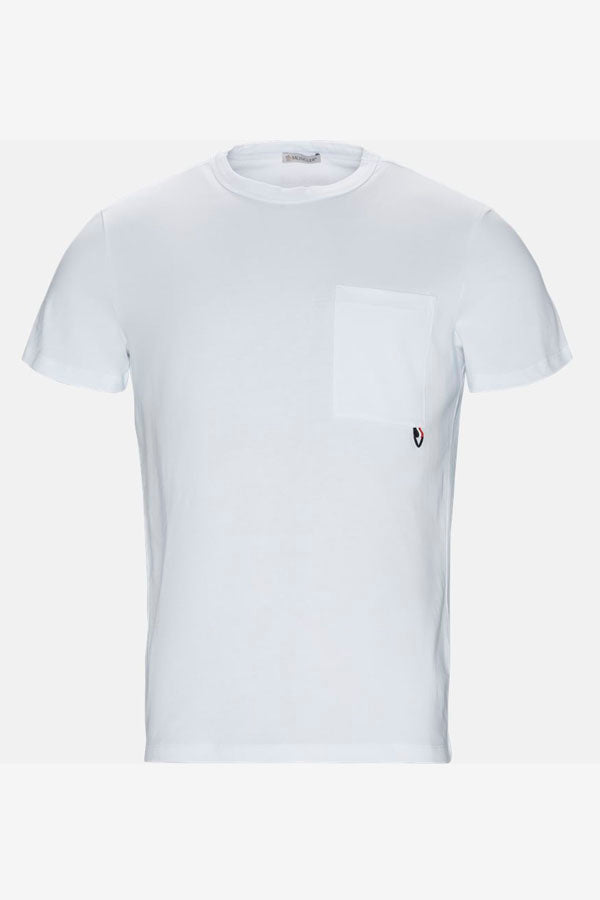 White Mens t-shirt Moncler
