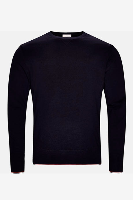 Moncler Men's Wool knit sweater navy