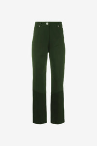 High waisted kaki colored jeans
