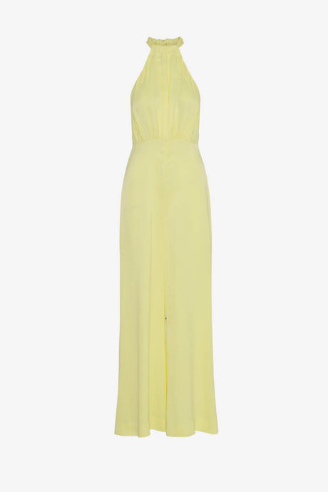 Rotate Birger Christensen Jumpsuit yellow halterneck
