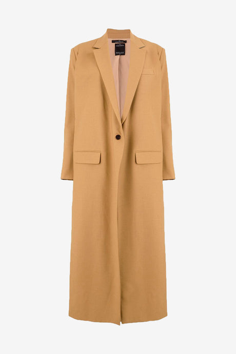 Tailored coat with long boxy silhouette